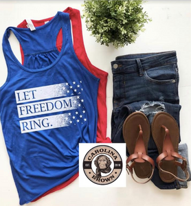 Let Freedom Ring Patriotic T-shirt and Tank Top