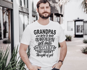 Grandpas are here to help t-shirt