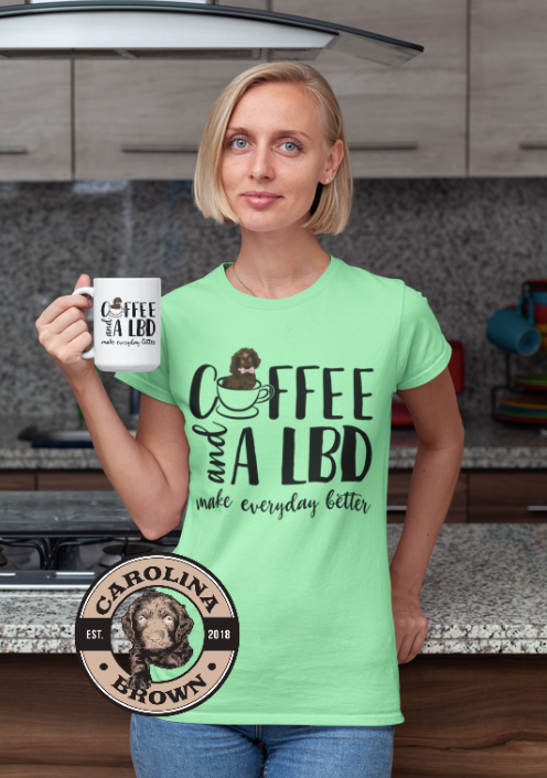 Coffee and a LBD Boykin Spaniel T-Shirt