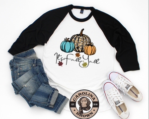 It's fall Y'all baseball t-shirt