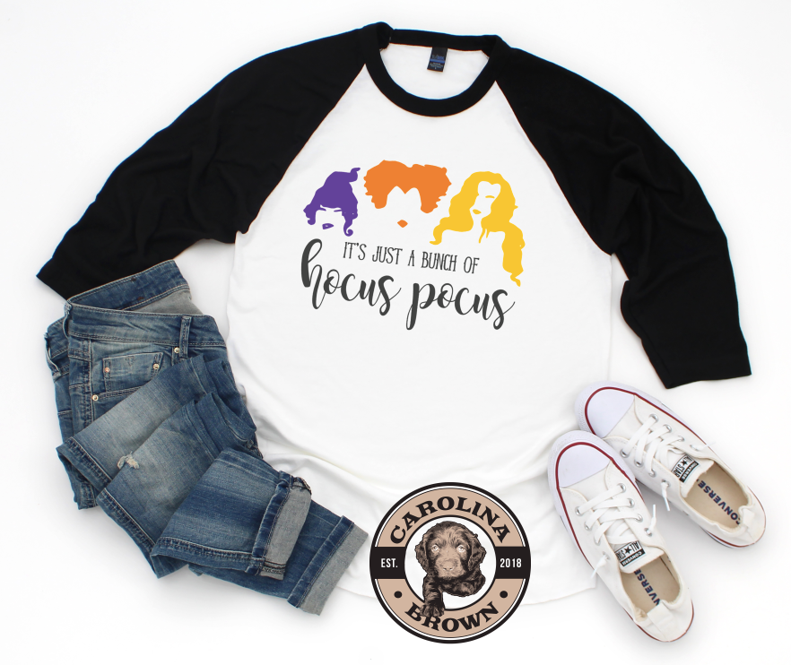 Just A Little Hocus Pocus baseball t-shirt