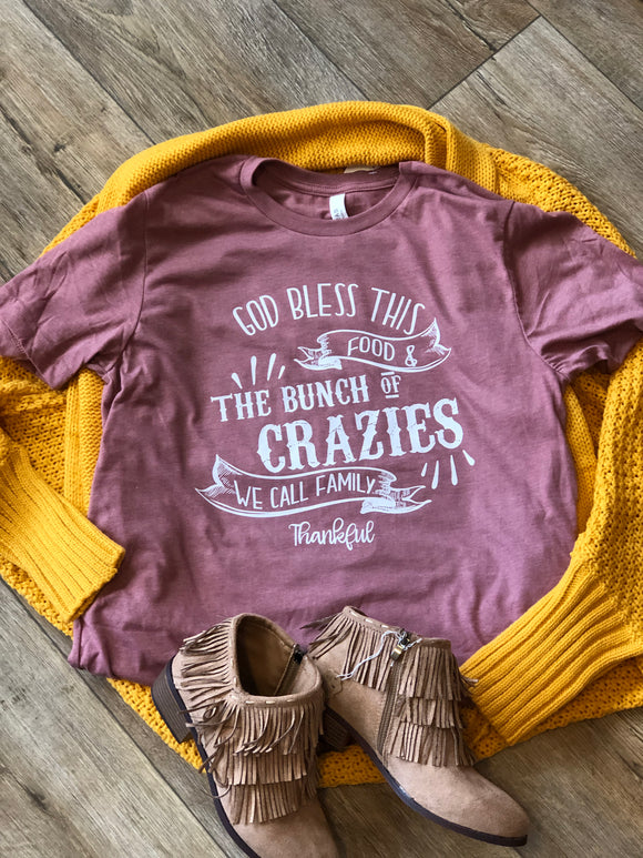Crazy Family Thankful T-Shirt