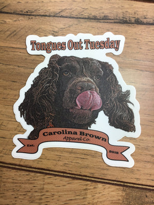 Tongues Out Boykin Spaniel Sticker