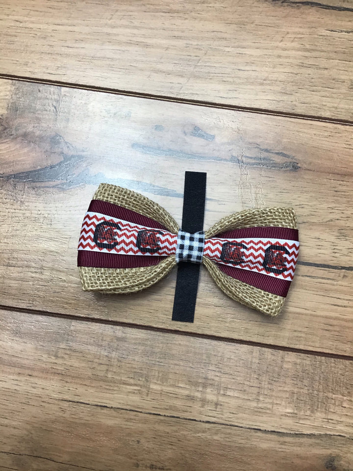 Gamecock Dog Bow Tie