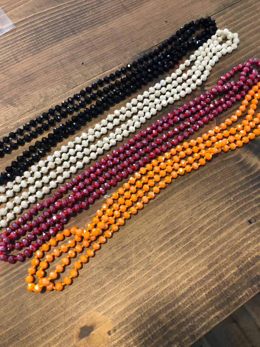 Sale Long Glass Beaded Necklaces