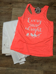 Every Little Thing Hippie coral Tank Top