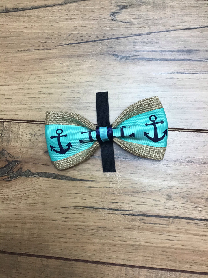Anchor Dog Bow Tie