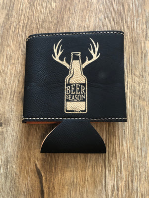 Beer Season Leather Koozie