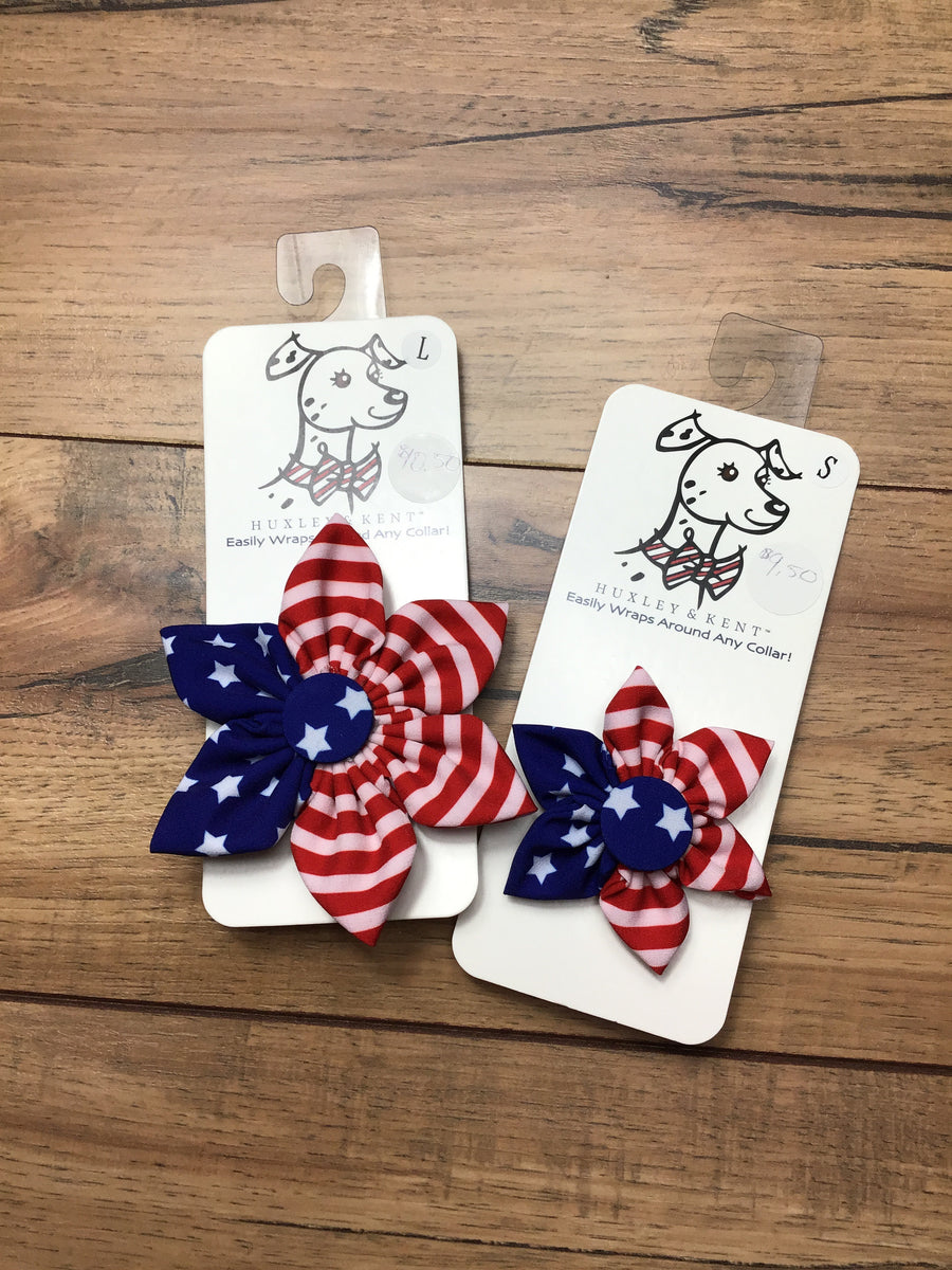 American Flower Dog Bow Tie