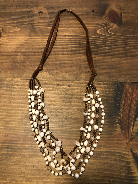 Layered Snake Skin Necklace