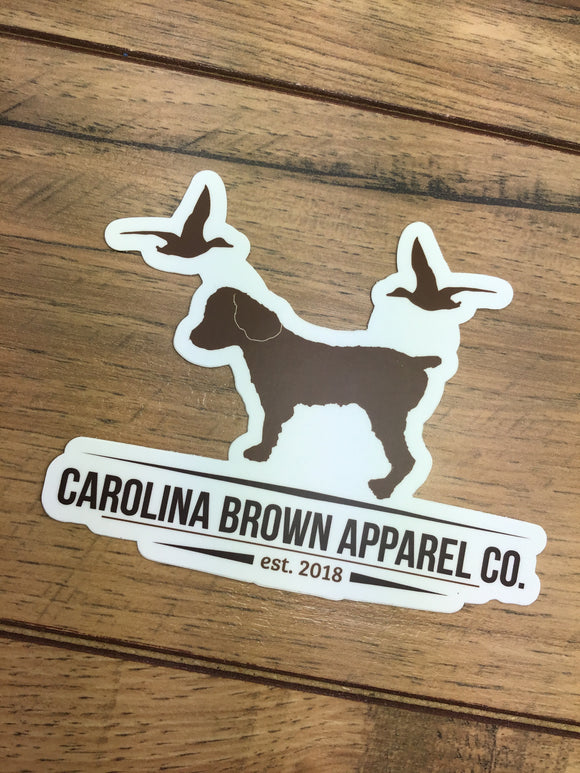 Carolina Brown Duck Dog Logo Sticker