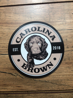 boykin duck dog circle sticker