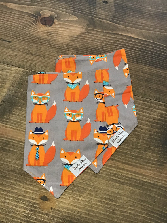 Personalized Orange Fox Dog Bandana