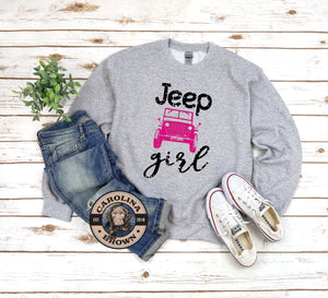 Jeep Girl Unisex T-Shirt, Raglan & Sweat Shirt.