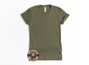 Husband Father & our Hero olive green t-shirt
