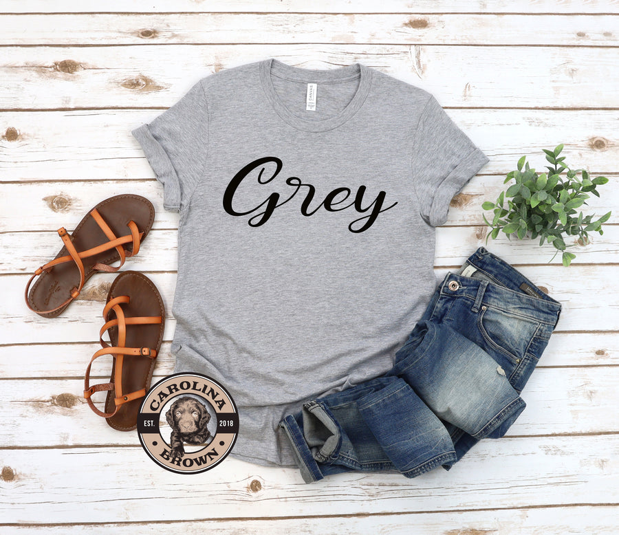 grey tshirt Drinks Well with Others