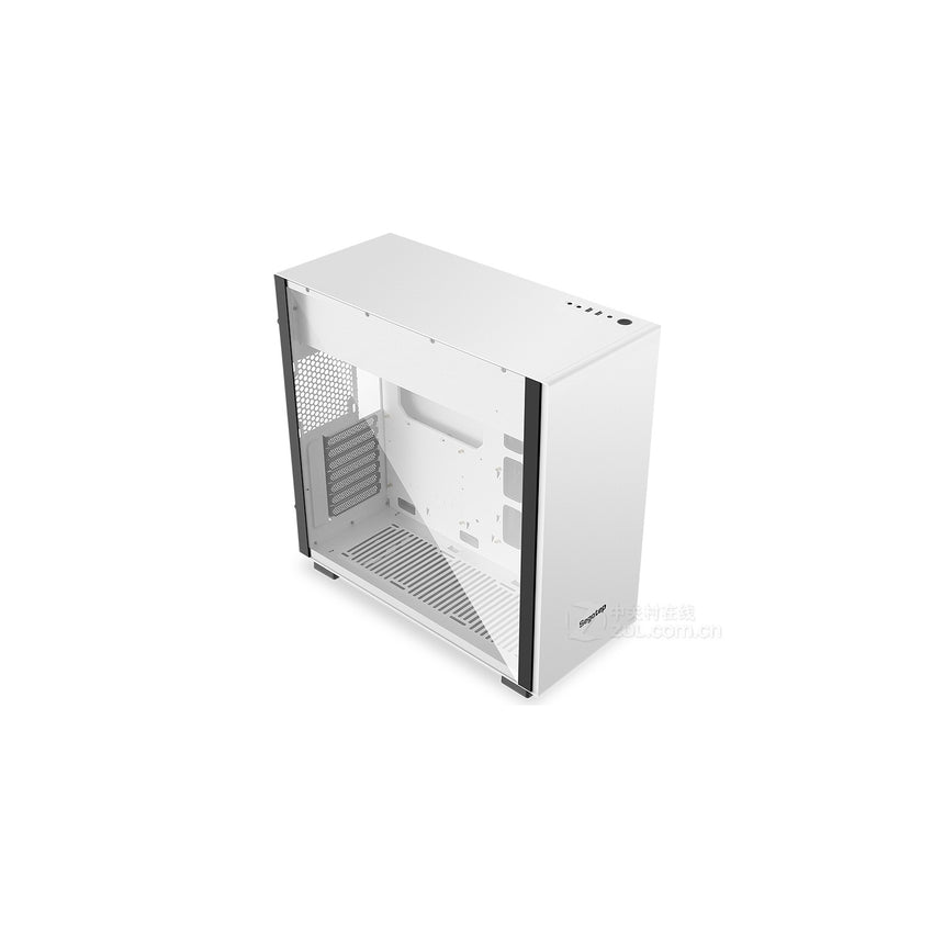 Segotep FANCY F1 RGB Gaming Computer Case Support ATX / Micro-ATX / E-ATX USB 3.0 White