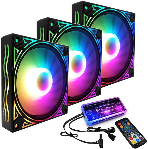 RGB PC cooling fan, PC case fan with remote control