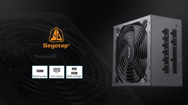 Segotep 750W Power Supply 80 Plus Gold Certified PSU Fully Modular