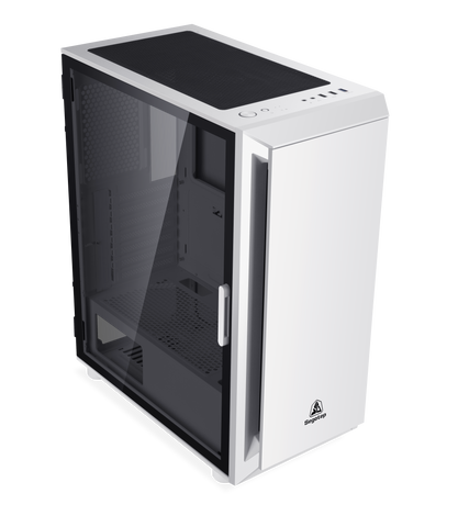 Segotep Gank 5 Gaming Computer case Support ATX, Micro-ATX, Mini-ITX Mid Case.Tempered Glass Side Panel, ATX Mid Tower, PC Case White