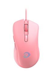 Dareu Pink RGB Gaming Mouse with Programmable Buttons