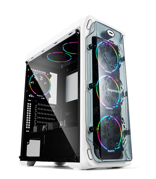 Segotep LUX Gaming Computer Case PC White