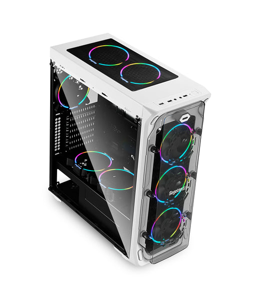 Segotep LUX Gaming Computer Case Support ATX / Micro-ATX / ITX USB 3.0 White