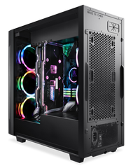 Segotep Phoenix K3 ATX Black Mid Tower PC Gaming Computer Case USB 3.0 Ports/Graphics Card Vertical Mounting with Tempered Glass & RGB Front Panel