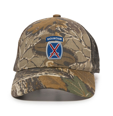 10th Mountain Woodland Trucker Cap