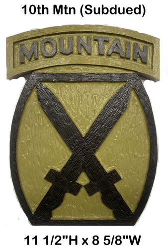 10th Mountain Div Patch (Subdued)