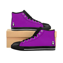 Load image into Gallery viewer, Purple Women's Comfy High-top Sneakers