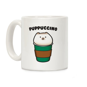 Puppuccino Parody Ceramic Coffee Mug by LookHUMAN