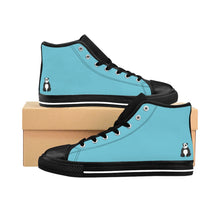 Load image into Gallery viewer, Teal Women's Comfy High-top Sneakers