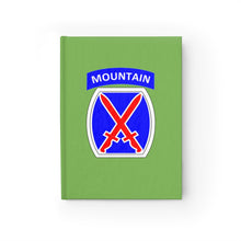 "Load image into Gallery viewer, 10th Mountain ""GREEN LEADERSHIP NOTEBOOK"""