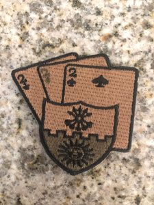 "Triple Deuce Coyote Velcro Patch 2"" x 2"""