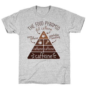 Coffee Food Pyramid Athletic Gray Unisex Cotton Tee by LookHUMAN