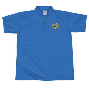 A Wild Life Called Life Embroidered Polo Shirt