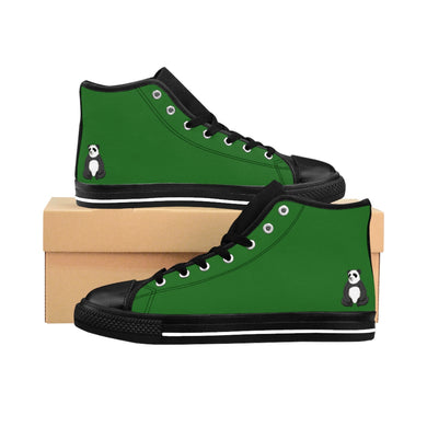 Men's Panda Green High-top Sneakers