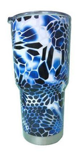 Hex Blue Camo Tumbler Warehouse Tumbler