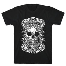 Load image into Gallery viewer, Punk Diamond Skull Black Unisex Cotton Tee by LookHUMAN
