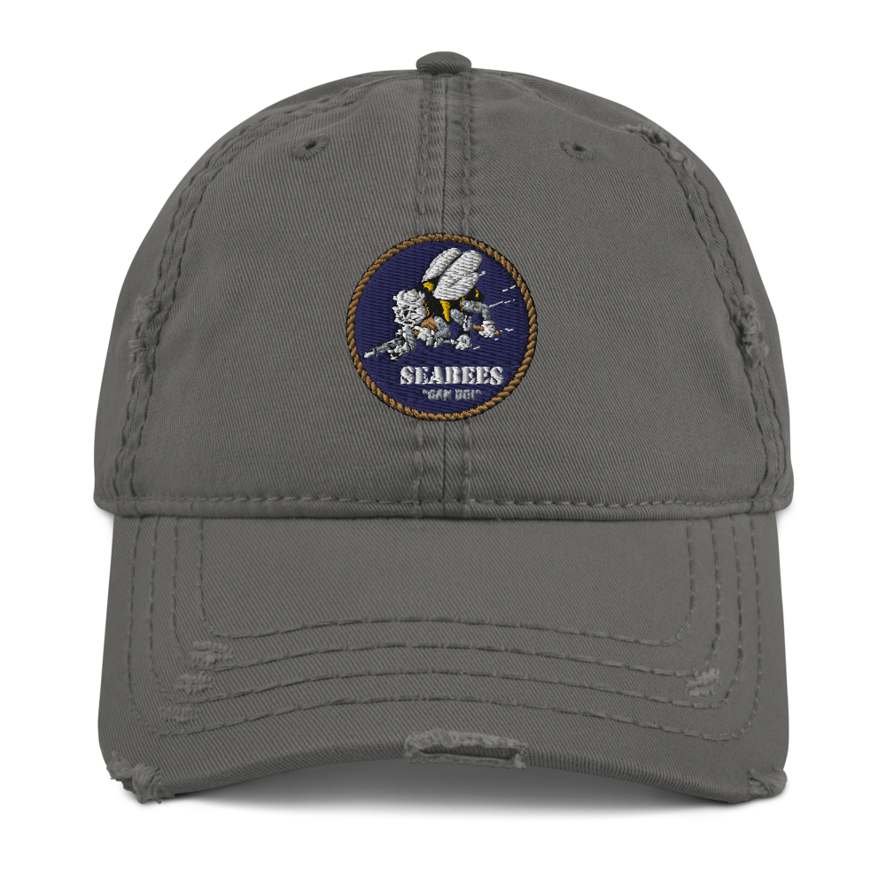 Seabees Distressed Dad Hat