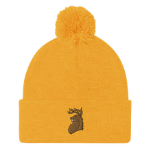 Load image into Gallery viewer, Fighting Deer Pom-Pom Beanie