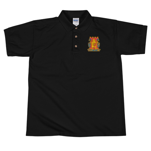 Golden Dragon Embroidered Polo Shirt