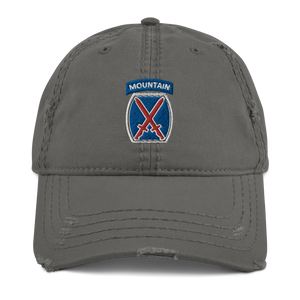 10th Mountain Distressed Dad Hat
