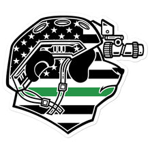 Load image into Gallery viewer, Thin Green Line Pando Commando Bubble-free stickers