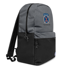 Load image into Gallery viewer, 10th Mountain Embroidered Champion Backpack