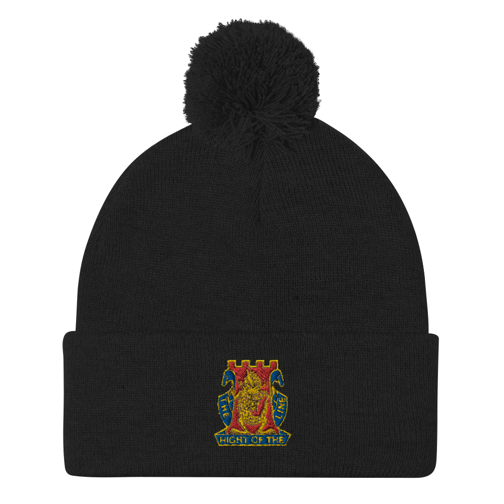 Gold Dragon Pom-Pom Beanie