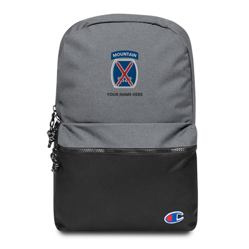 10th Mountain Embroidered Champion Backpack