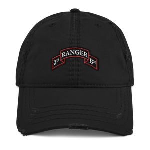 2nd Ranger Bn Distressed Dad Hat