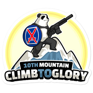 10th Mountain Climb 2 Glory Bubble-free stickers